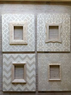 Set of 45x7 Distressed Wood Picture Frames in by deltagirlframes, $400.00