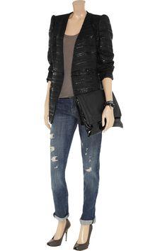 EMANUEL UNGARO  Sequin-embellished tweed jacket  £737.85