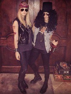 Cool rock Costumes Axl Rose and Slash (Jessica Alba) #carnaval