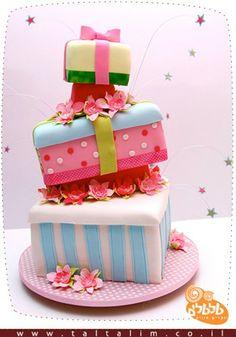 Gift boxes wedding cake