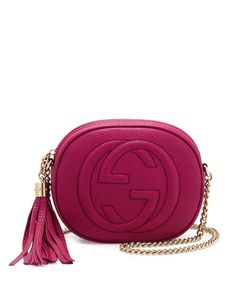 Soho Leather Mini Shoulder Bag, Bright Pink - Gucci