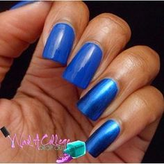 Zoya Nail Polish in Estelle can be best described as a blue on blue liquid metal with a blackened base. Avon Nails, Hot Blue, Blue Nail Polish, Swatch, Liquid Metal, Nail Art, College, Drop, University