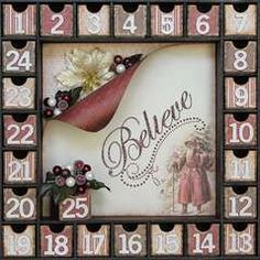 Project Ideas for Kaisercraft - Beyond the Page Collection - Advent Calendar Kit