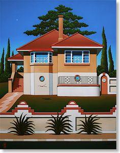 7. DOROTHY'S DECO DREAM Australian Painting, Australian Artists, Jeffrey Smart, Surfboard Art, Good House, House Art, Blue Mountain, Kiwi, Painters