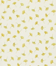 Kantu (212421) - Sanderson Wallpapers - 'Kantu' is a small gingko leaf wallpaper. Shown here in autumn on a off white background - more colours are available. Please request a sample for true colour match.