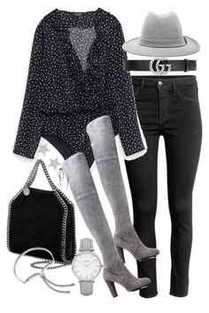 """Untitled #22075"" by florencia95 ❤ liked on Polyvore featuring H&M, Laveer, Gucci, STELLA McCARTNEY, Stuart Weitzman, Topshop, Diamond Star and Monica Vinader"