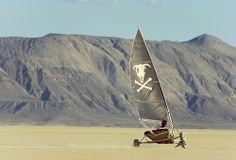 """Nevada has many claims to fame, and you can add one more to the list: land sailing. The Silver State is arguably the premier land-sailing destination in the United States. """"We have the dry lakebeds, the hard mud,"""" says nine-time national champion and current treasurer of the North American Land Sailing Association, Mark Harris. """"Nevada is a very popular location because we can go the fastest."""" Photo by Scott T. Smith"""