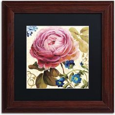 Trademark Fine Art Victorias Dream II Canvas Art by Lisa Audit, Black Matte, Wood Frame, Size: 16 x 16, Multicolor