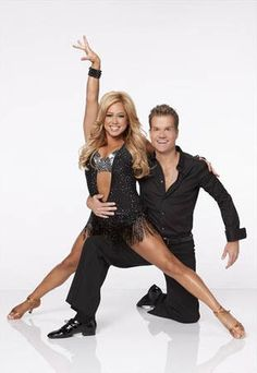 Sabrina Bryan and partner Louis, contestant on Dancing With the Stars All-Stars