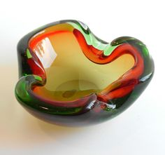 Biomorphic Murano Glass Bowl by xvotovintage on Etsy
