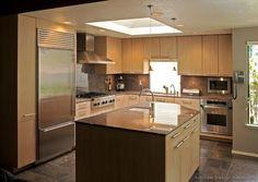 Modern Medium Wood Kitchen Cabinets (kitchen Design Ideas.stfi.re)   Kitchen  Island Ideas   Pinterest   Wood Kitchen Cabinets, High Windows And Kitchens