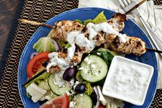 chicken recipes, chicken salads, food, grill chicken, dinner recipes, grilled chicken, tzatziki salad, chicken tzatziki, greek chicken