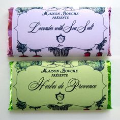 Jardin Potager bars in Lavender with Sea Salt and Herbes de Provence