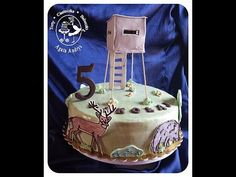 TORTY * CIASTECZKA * BABECZKI - AGATA ANDRYS: TORT Z MOTYWEM LEŚNYM - AMBONĄ, JELENIEM, DZIKIEM / forest theme cake