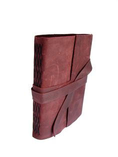 Rustic Leather Blank Journal with Tie Closure. $40,00, via Etsy.