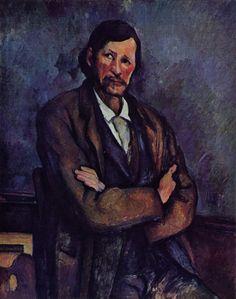 Man with Crossed Arms - Paul Cezanne  #cezanne #paintings #art
