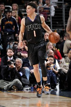 Phoenix Suns loss to Cleveland Cavaliers on 1/27/16. Final score was Suns 93 and Cavs 115. NBAE-#SunsAtCavs. Booker was high scorer for the Suns.