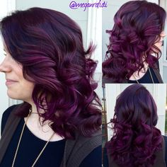 Purple Hair, don't care! Igora Royal 6-99 roots, Joico Intensity Orchid midshaft-ends!