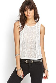 Crochet Lace Tank | FOREVER21 - 2000069126