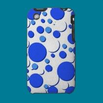 blue and white polka dots ipad/iphone/ipod cases by ChristysCrazyCases