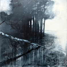 Artists represented by British contemporary art gallery, Four Square Fine Arts - Sonia Stanyard. Landscape Artwork, Landscape Drawings, Abstract Landscape, Abstract Art, Art And Illustration, Monochrom, Tree Art, White Art, Oeuvre D'art