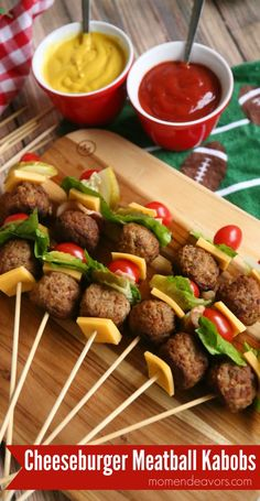 We're sharing these fun cheeseburger meatball kabobs (sponsored by Cooked Perfect Meatballs) with you today, perfect for a fun game day appetizer! Food on a stick always seems to be a crowd f…