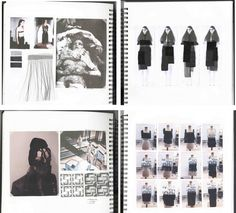 Fashion Sketchbook pages - fashion design process with theme, mood, collage illustrations design development; fashion portfolio layout // Bianca de Csernatony