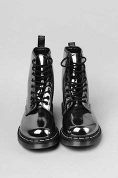 Silver doc martens #boots