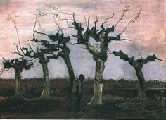 Vincent van Gogh Landscape with Pollard Willows, 1884