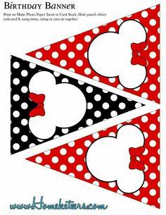 Banner de minnie mouse roja