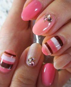 pink border nail #nailart #nails #fingernails