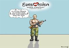 Putin is the winner of ESC © Marian Kemensky, Slovakia 5/23/15