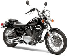 "Yamaha VStar 250 Cruiser | 249cc, 60 degree VTwin, air cooled, DC, CR 10:1, seat height 27"", wheelbase 58.7"", GC 5.7"", dry weight 302 lb, 2.5 gallon, 78 av MPG, twin shocks, disc/drum."