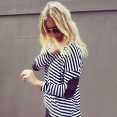 stripes ( elbow detail is it for fall...) great top for anywhere