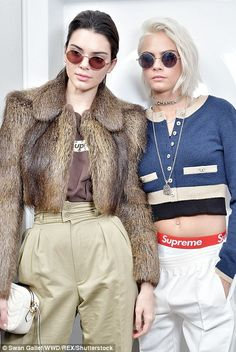 Twice as nice: The girls wore matching round shades for the snaps