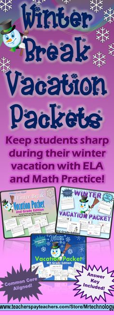 Packets are available for 2nd, 3rd, and 4th grades! Packet includes reading logs, vocabulary word work, test-prep style reading comprehension passages, math work, #CommonCore writing prompts, and more!