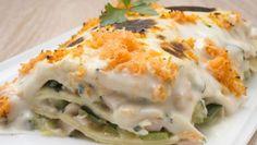 Lasaña de espinacas, pavo y calabacín Lasagna, Tapas, Mashed Potatoes, Bechamel, Cooking Recipes, Eggs, Meat, Breakfast, Ethnic Recipes