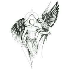 Sketch style angel with owl tattoo design tattoo sketch art, tattoo design drawings, tatto Kunst Tattoos, Bild Tattoos, Body Art Tattoos, New Tattoos, Sleeve Tattoos, Tattoos For Guys, Cool Tattoos, Tatoos Men, Awesome Tattoos
