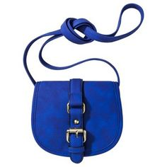 Seen in June InStyle w/ a white dress  Merona® Diamond Mini Crossbody - Blue