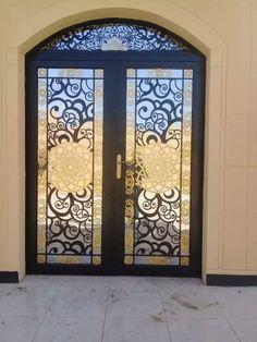 Door Gate Design, House Gate Design, Cnc Cutting Design, Wrought Iron Gates, Modern Door, Luxury Homes Interior, Iron Doors, Steel Doors, Entrance Doors