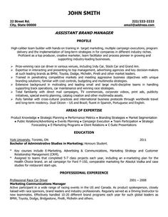 click here to download this assistant brand manager resume template httpwww resume templatesadvertising - Advertising Resume