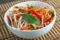 Thai Style Slaw. This pairs beautifully with my favorite Thai grilled chicken.