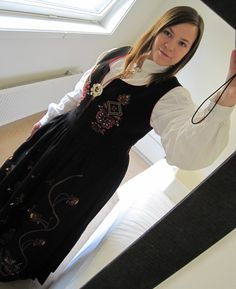 Myself in my Sunnmørsbunad Folklore, Norway, High Neck Dress, Traditional, History, Dresses, Fashion, Turtleneck Dress, Vestidos