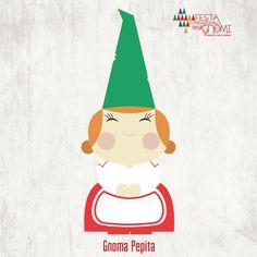 Gnoma Pepita   una dolcissima signora dalle guance paffute e le mani tonde come panini, porta con sé l'odore delle sue buonissime torte e del sapone che produce in casa.