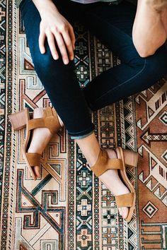 brown suede block heel sandals #spring #trend