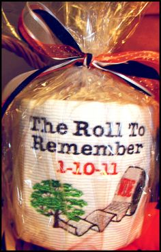 """Auburn National Championship Embroidered Toilet Paper! """"The Roll To Remember"""" 1-10-11 WAR EAGLE!!"""