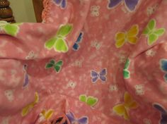 Butterflies Bright Pastel Colors Throw Afghan by UnhungHarps, $54.00