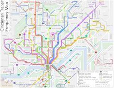 Cincinnati Frequent Transit Map
