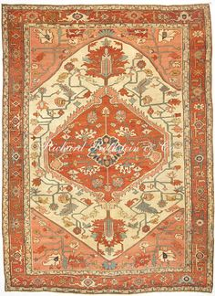 "Antique Serapi Persian Rug Size: 9' 2"" x 12' 2"""