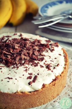 Banoffee Pie - Μπανόφι Greek Sweets, Banoffee Pie, Candy Shop, Greek Recipes, Sweet Tooth, Recipies, Cheesecake, Lemon, Banana